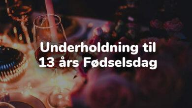 Photo of Underholdning til 13 års fødselsdag